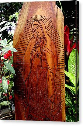 Virgen De Guadalupe Canvas Print by Calixto Gonzalez