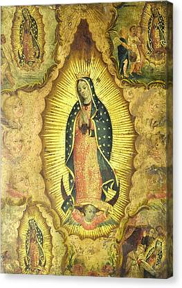 Virgen De Guadalupe Canvas Print by Unknown