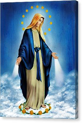 Virgen Milagrosa Canvas Print