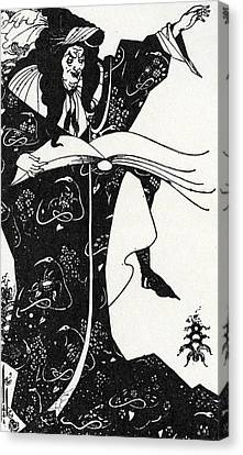 Virgilius The Sorcerer Canvas Print by Aubrey Beardsley