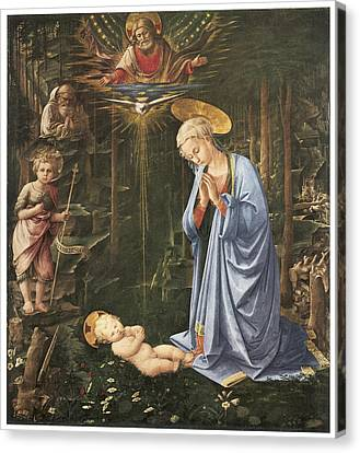 Virgin Adoring The Child Canvas Print by Fra Filippo Lippi