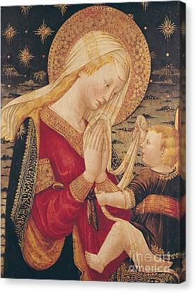 Madonna Canvas Print - Virgin And Child  by Neri di Bicci