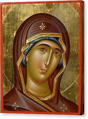 Virgin Mary Canvas Print by Daniel Neculae