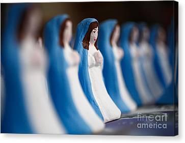 Virgin Mary Canvas Print by Gaspar Avila
