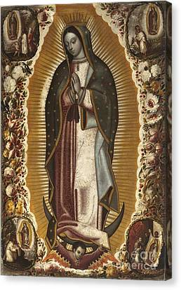 Virgin Of Guadalupe Canvas Print by MotionAge Designs