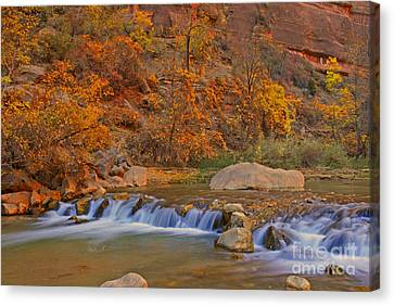 Virgin River In Autumn Canvas Print by Dennis Hammer
