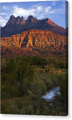Virgin River Near Zion National Park Canvas Print by Utah Images