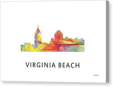 Virginia Beach  Virginia Skyline Canvas Print by Marlene Watson
