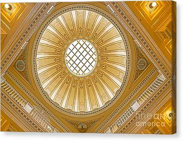 Canvas Print featuring the photograph Virginia Capitol - Dome by Jemmy Archer