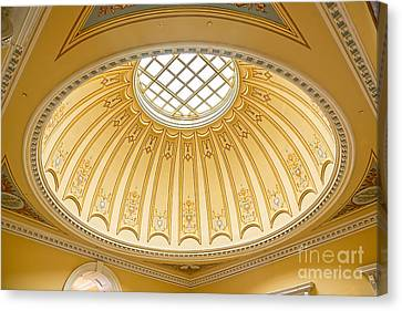 Canvas Print featuring the photograph Virginia Capitol - Dome Profile by Jemmy Archer