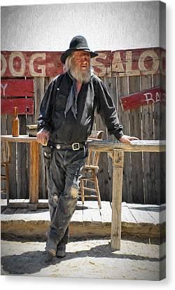 Virginia City Cowboy Canvas Print