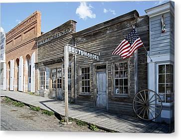 Virginia City Ghost Town - Montana Canvas Print by Daniel Hagerman