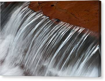Canvas Print featuring the photograph Virginia Falls Glacier National Park by Kevin Blackburn