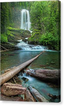 Virginia Falls Of Glacier National Park Canvas Print
