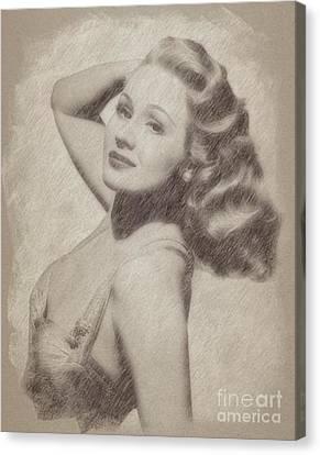 Virginia Mayo, Actress Canvas Print by Frank Falcon