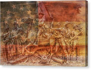 Virginia Monument At Gettysburg Battlefield Canvas Print by Randy Steele