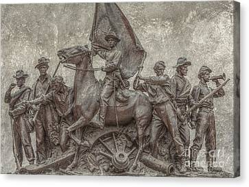 Virginia Monument Gettysburg Battlefield Canvas Print by Randy Steele