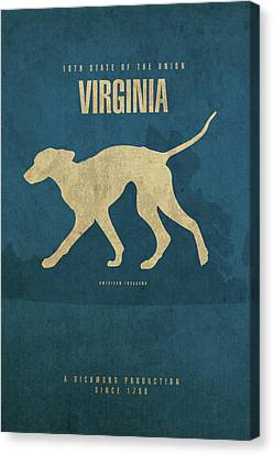 Movie Poster Canvas Print - Virginia State Facts Minimalist Movie Poster Art by Design Turnpike