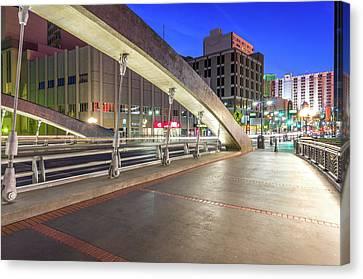 Canvas Print featuring the photograph Virginia Street Bridge Reno Nevada by Scott McGuire