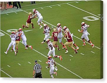 Scoring Canvas Print - Virginia Tech Football Homecoming by Betsy Knapp