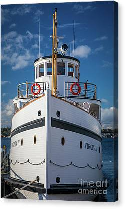 Pacific Northwest Ferry Canvas Print - Virginia V  by Inge Johnsson