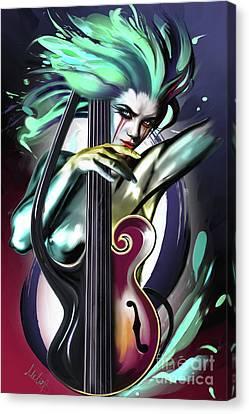 Virgo Canvas Print by Melanie D