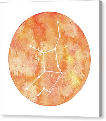 Zodiac Signs Canvas Print - Virgo by Stephie Jones