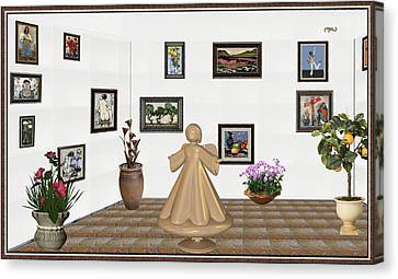 virtual exhibition_Statue of angel 22 Canvas Print by Pemaro