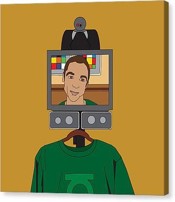 Virtual Sheldon Cooper Canvas Print by Tomas Raul Calvo Sanchez