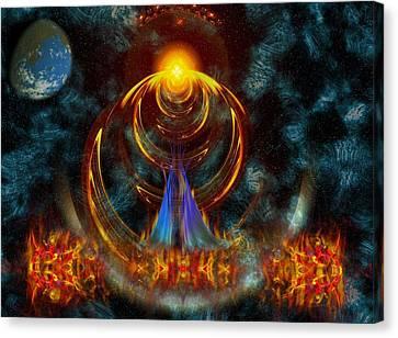 Virtual Wonder Canvas Print by Mario Carini