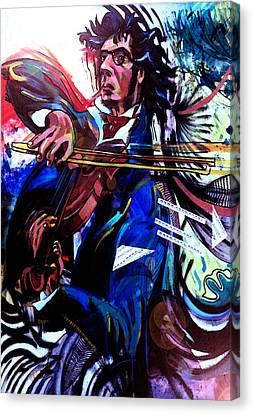 Virtuoso Violinist Canvas Print by Jose Roldan Rendon