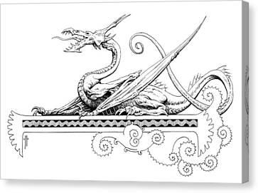 Viserion Logo Canvas Print by Richard Hescox