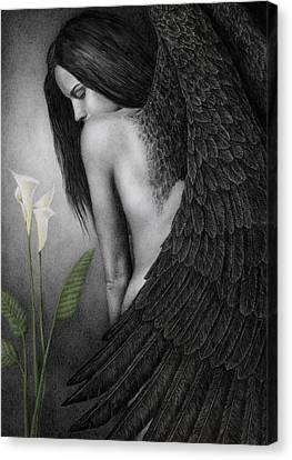 Figurative Canvas Print - Visible Darkness by Pat Erickson