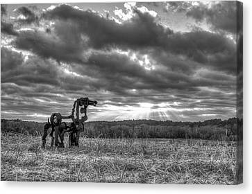 Visible Lights The Iron Horse Sunrise Art Canvas Print by Reid Callaway