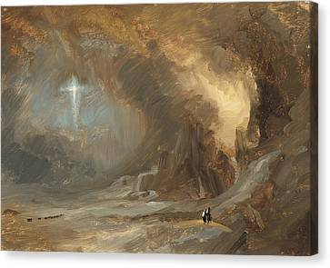 Vision Of The Cross Canvas Print by Frederic Edwin Church