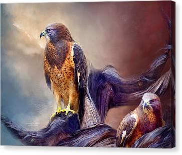 Vision Of The Hawk 2 Canvas Print by Carol Cavalaris