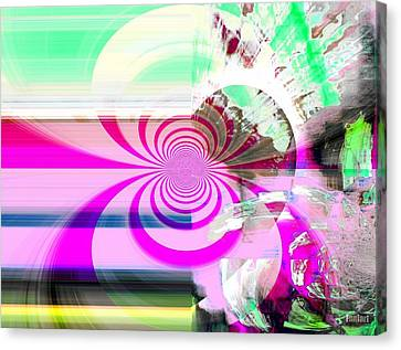 Canvas Print featuring the digital art Vision Realized by Fania Simon