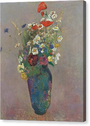 Vision Vase Of Flowers  Canvas Print by Odilon Redon