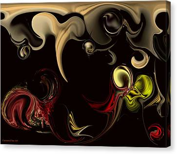 Canvas Print featuring the digital art Vision With Purity by Carmen Fine Art