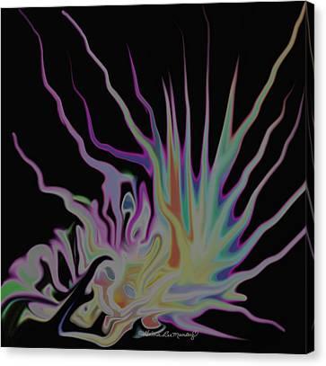 Visionary An Abstract Digital Painting Canvas Print