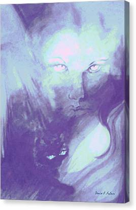 Canvas Print featuring the painting Visions Of The Night by Denise Fulmer