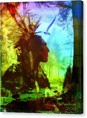 Visions Canvas Print by Poni Trax