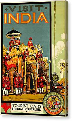 Sikh Art Canvas Print - Visit India The Great Indian Peninsula Railway II 1920s A R Acott by Peter Gumaer Ogden