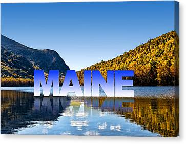 Canvas Print featuring the photograph Visit Maine by Gary Smith
