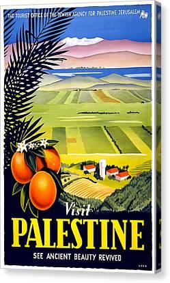 Jerusalem Canvas Print - Visit Palestine by David Wagner