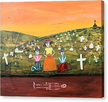 Visiting Our Loved Ones Canvas Print by Sonia Flores Ruiz