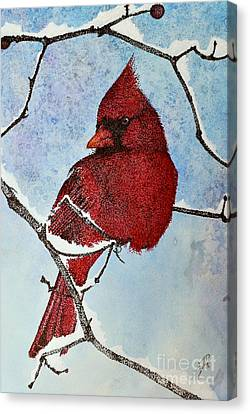 Canvas Print featuring the painting Visiting Spirit by Suzette Kallen