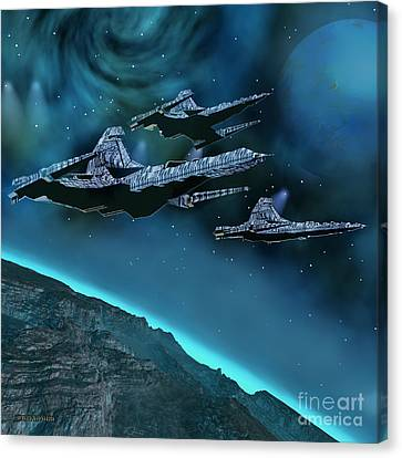 Visitors Canvas Print by Corey Ford