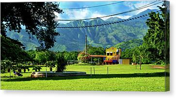 Vista Del Ferrocalejo En Rincon Grande Canvas Print