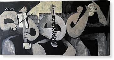 Vitae The Musicians  Canvas Print by Mark M Mellon
